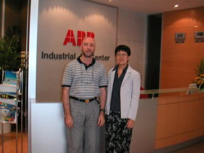 Attending ABB DCS Training Course. Seen here with Course Teacher.