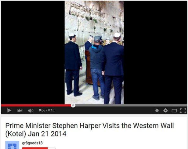 PM Stephen Harper visits Western Wall (Kotel)