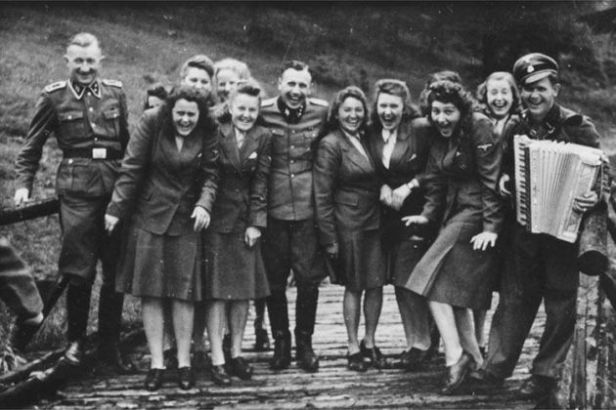 Auschwitz SS Officers + Secretaries in high spirits (1942)